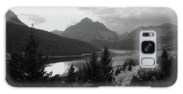 Lower Two Medicine Lake In Black And White Galaxy Case