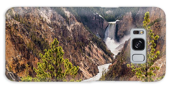 Lower Yellowstone Canyon Falls 5 - Yellowstone National Park Wyoming Galaxy Case