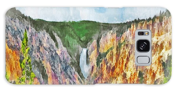 Galaxy Case featuring the digital art Lower Yellowstone Falls by Digital Photographic Arts