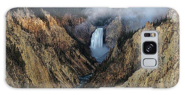 Lower Yellowstone Falls Sunrise Galaxy Case