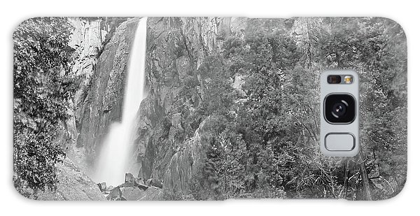 Lower Yosemite Falls In Black And White By Michael Tidwell Galaxy Case
