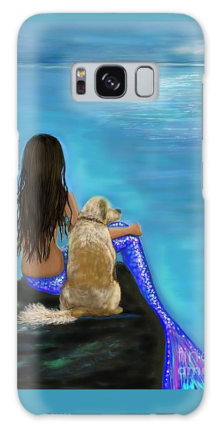 Galaxy Case featuring the painting Loyal Loving Buddy by Leslie Allen