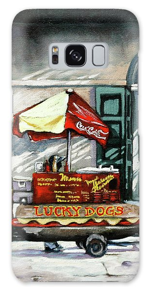 Lucky Dogs Galaxy Case by Dianne Parks
