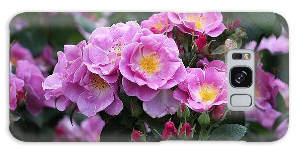 Lucky Floribunda Roses Galaxy Case by Rona Black