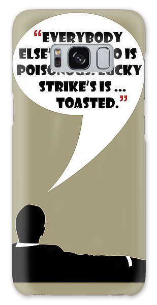 Lucky's Tobacco - Mad Men Poster Don Draper Quote Galaxy Case