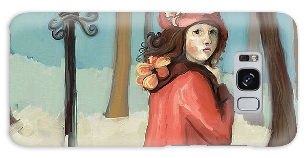 Girl In The Snow Galaxy Case