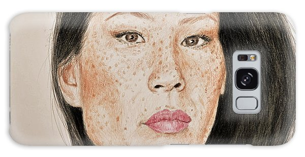 Hyper-realistic Galaxy Case - Lucy Liu Freckled Beauty I by Jim Fitzpatrick