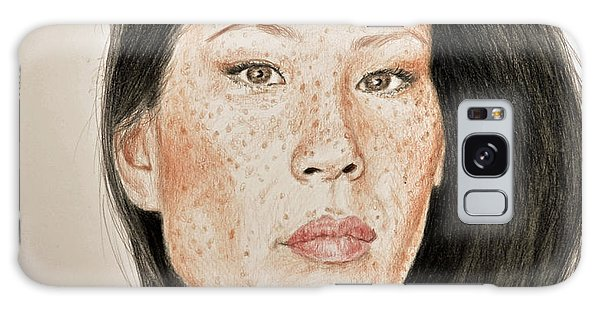 Hyper-realistic Galaxy Case - Lucy Liu Freckled Beauty  by Jim Fitzpatrick