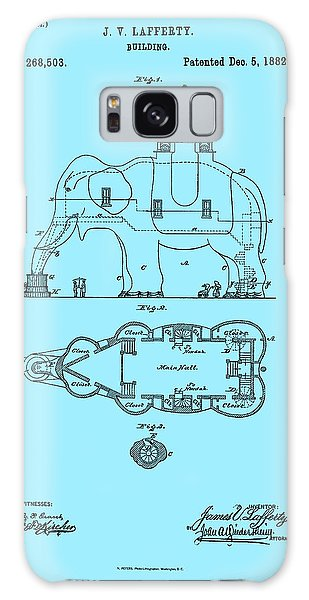 Lucy The Elephant Patent 1882 Galaxy Case