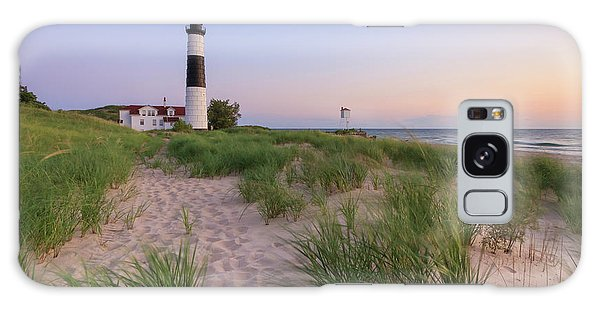 Galaxy Case featuring the photograph Ludington Beach And Big Sable Point Lighthouse by Adam Romanowicz