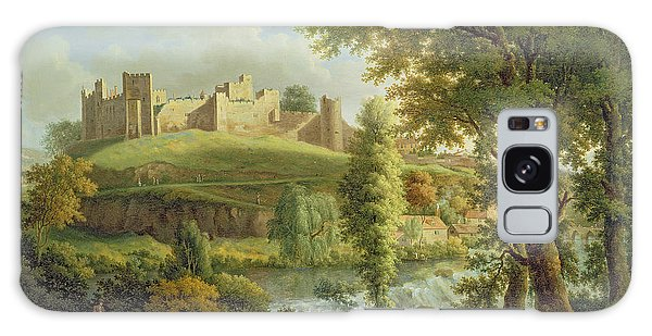 Ludlow Castle With Dinham Weir Galaxy Case