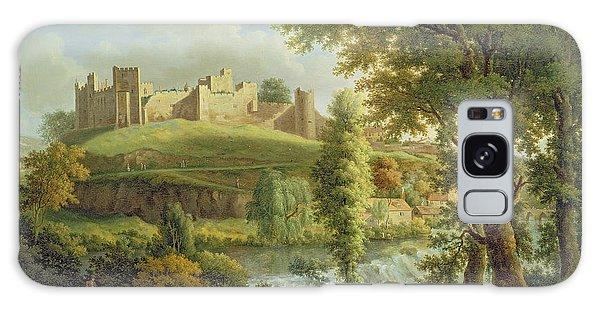 Castle Galaxy Case - Ludlow Castle With Dinham Weir by Samuel Scott
