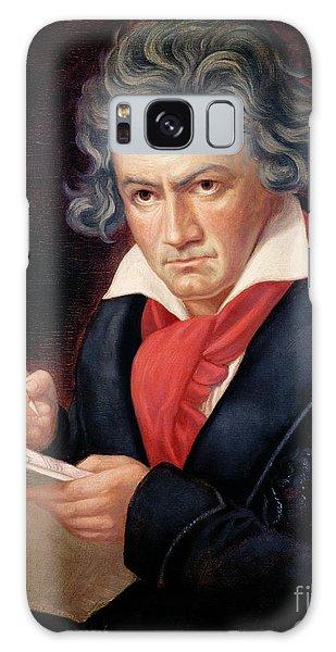 Portraiture Galaxy Case - Ludwig Van Beethoven Composing His Missa Solemnis by Joseph Carl Stieler