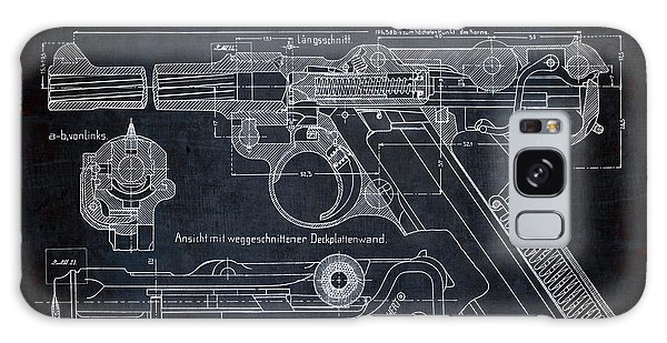 Semis Galaxy Case - Luger P08 Pistol Blueprint by Daniel Hagerman
