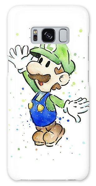 Watercolor Galaxy Case - Luigi Watercolor by Olga Shvartsur