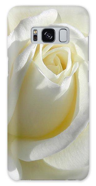 Luminous Ivory Rose Galaxy Case