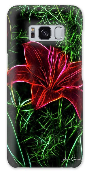 Luminous Lily Galaxy Case