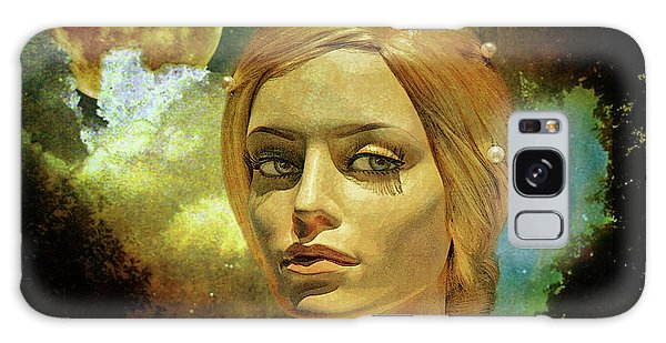 Moon Galaxy Case - Luna In The Garden Of Evil by Chuck Staley