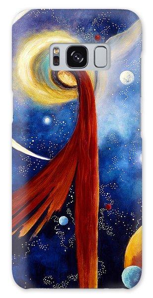 Lunar Angel Galaxy Case by Marina Petro