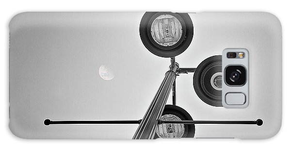 Light Galaxy Case - Lunar Lamp In Black And White by Tom Mc Nemar