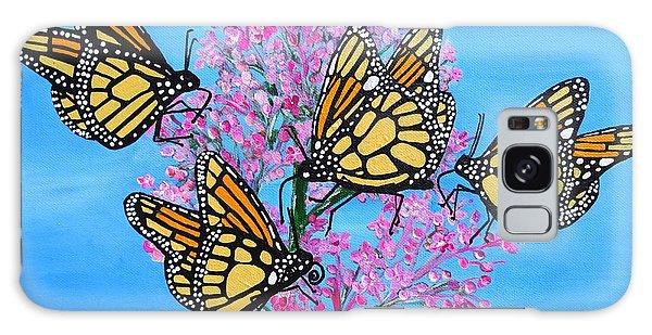 Butterfly Feeding Frenzy Galaxy Case