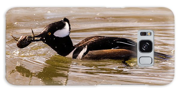Lunchtime For The Hooded Merganser Galaxy Case by Randy Scherkenbach