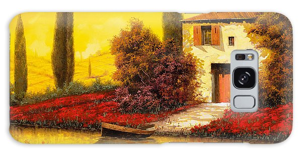Rural Scenes Galaxy S8 Case - Lungo Il Fiume Tra I Papaveri by Guido Borelli