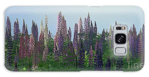 Lupine In Morning Light Galaxy Case by Christopher Mace