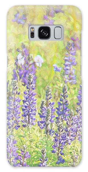 Galaxy Case featuring the photograph Lupine Wildflowers Montana by Jennie Marie Schell
