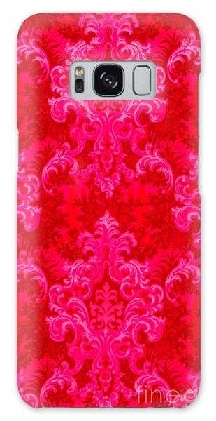 Luscious Neo Baroque Hot Pink Bubblegum Damask Galaxy Case