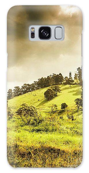 Countryside Galaxy Case - Lush Green Country Farmland by Jorgo Photography - Wall Art Gallery