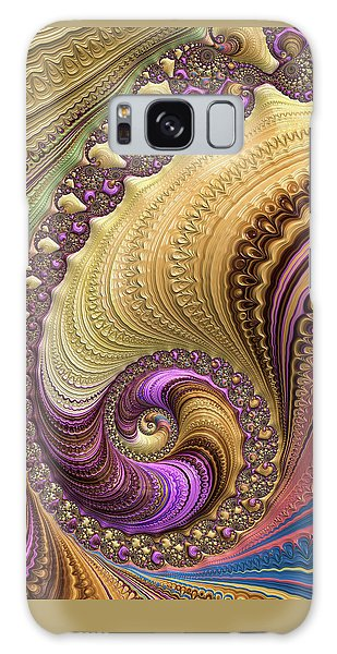 Luxe Colorful Fractal Spiral Galaxy Case by Matthias Hauser