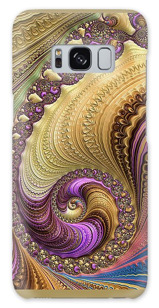 Galaxy Case featuring the digital art Luxe Colorful Fractal Spiral by Matthias Hauser