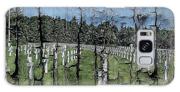 Luxembourg Wwii Memorial Cemetery Galaxy Case by Joseph Hendrix