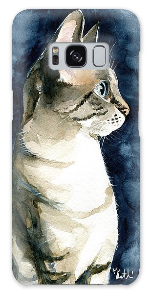 Lynx Point Cat Portrait Galaxy Case