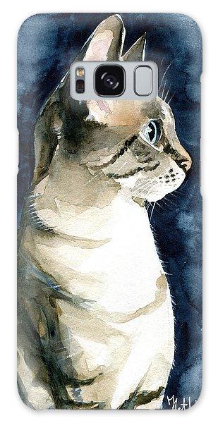 Lynx Point Cat Portrait Galaxy Case