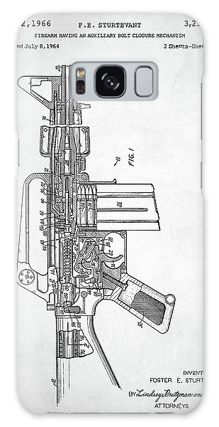 M-16 Rifle Patent Galaxy Case by Taylan Apukovska