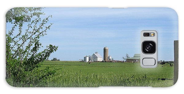 Galaxy Case featuring the photograph M Angus Farm by Dylan Punke