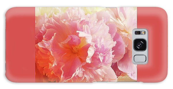 M Shades Of Pink Flowers Collection No. P74 Galaxy Case