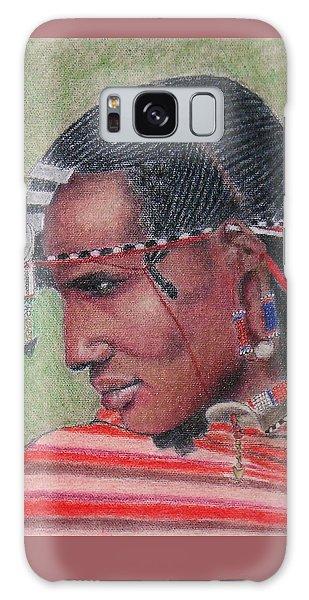 Maasai Warrior II -- Portrait Of African Tribal Man Galaxy Case