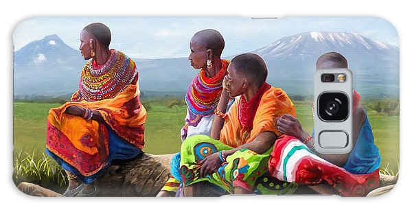 Maasai Women Galaxy Case by Anthony Mwangi