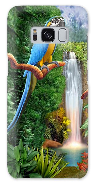 Macaw Tropical Parrots Galaxy Case