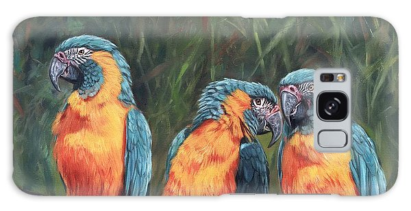 Macaws Galaxy Case by David Stribbling