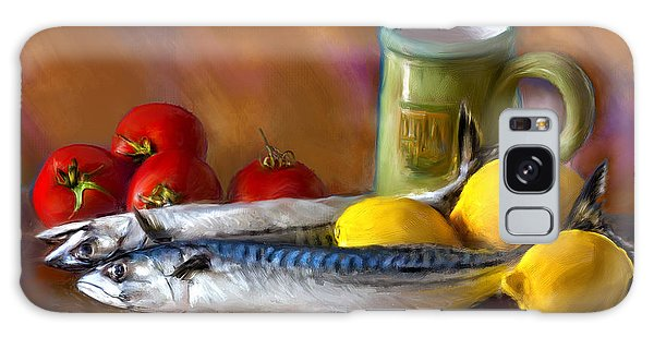 Mackerels, Lemons And Tomatoes Galaxy Case
