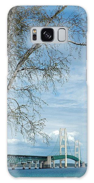 Mackinac Bridge Birch Galaxy Case