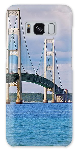Mackinac Bridge Galaxy Case by Michael Peychich