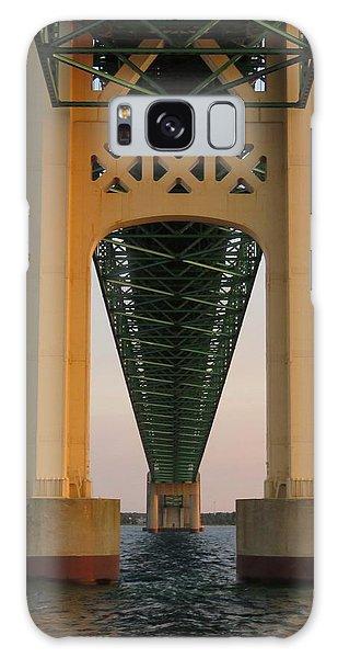 Mackinac Bridge Tower At Sunset Galaxy Case