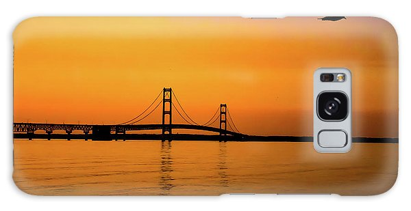 Mackinaw Sunset  Galaxy Case