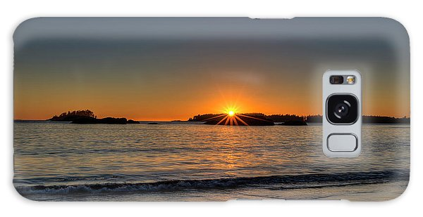 Ocean Sunset Galaxy S8 Case - Mackinsie Beach Sun Burst by Mark Kiver