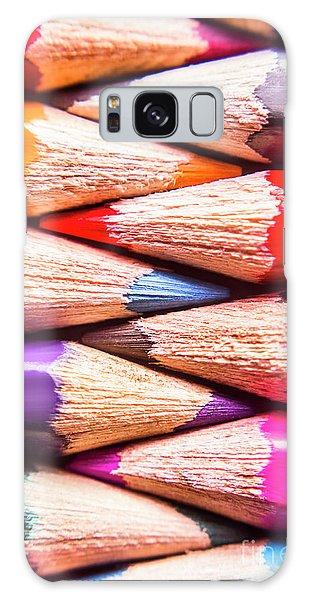 School Galaxy Case - Macro Coloured Pencil Crossover by Jorgo Photography - Wall Art Gallery